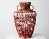 vintage amphora open weave vase