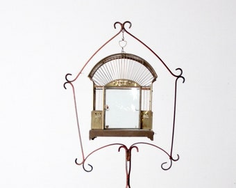 Items similar to Antique Bird Cage Solid Brass MID CENTURY