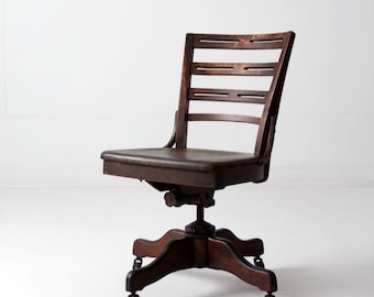 vintage office chair. Contemporary Vintage Antique Desk Chair Wood Swivel Office Chair On Casters On Vintage Office Chair
