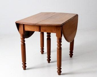 Beau Antique Drop Leaf Table, Farmhouse Wood Table