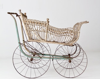 Home & Hearth Baby Carriages & Buggies Active Vintage Victorian Doll Carriage All Original.