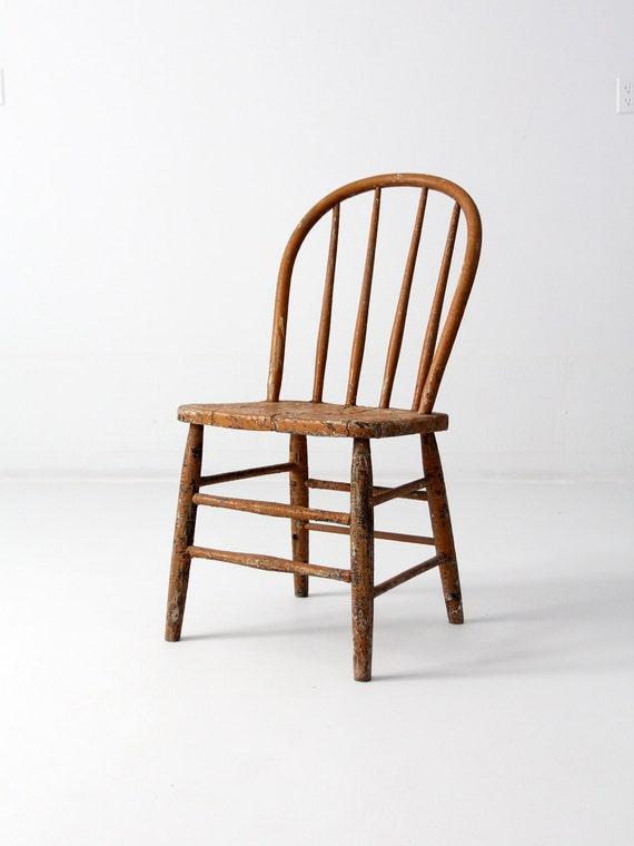 image 0 - Antique Primitive Spindle Back Chair Etsy