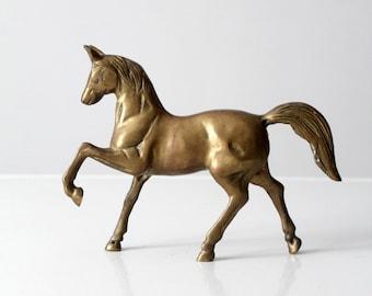 mid-century brass horse figure