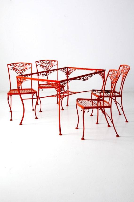 Reserve Vintage Wrought Iron Patio, Rod Iron Patio Furniture Vintage