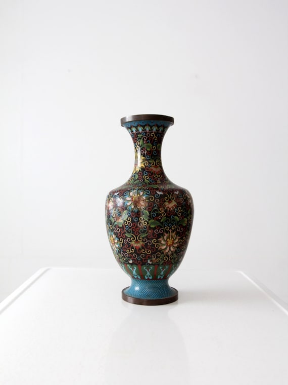 Antique Chinese Cloisonne Bottomless Vase Etsy
