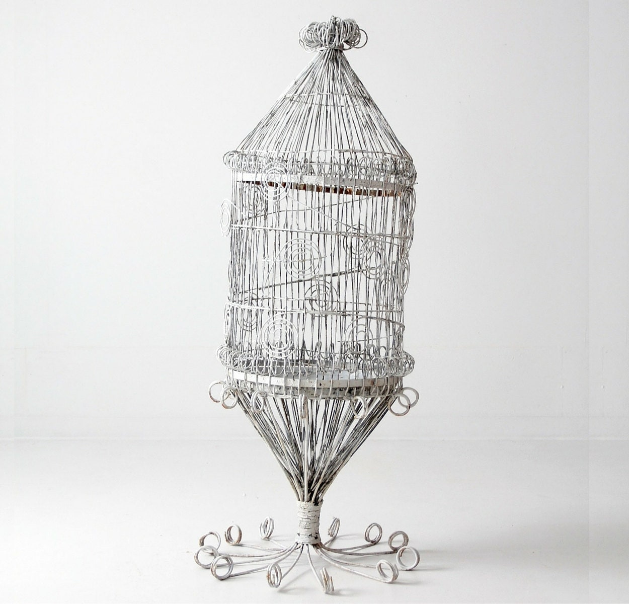 antique victorian bird cage large metal cage garden decor etsy. Black Bedroom Furniture Sets. Home Design Ideas