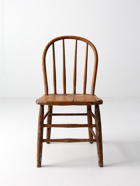 image 0 - Primitive Farmhouse Chair Antique Spindle Back Windsor Chair Etsy