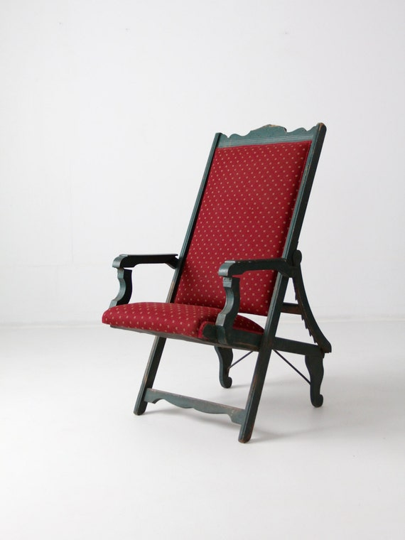 image 0 - Victorian Lawn Chair 1800s Recliner Chair Antique Chair Etsy