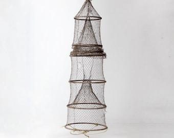 vintage fyke net, XL fishing net
