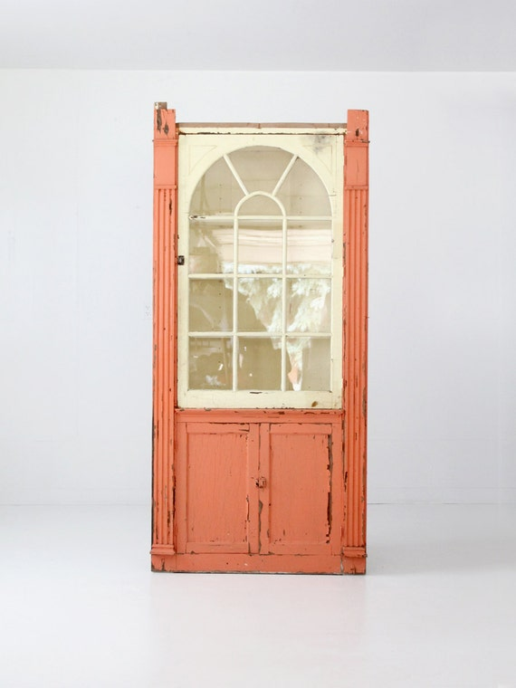 Antique Corner Cabinet Painted China Cabinet Primitive | Etsy
