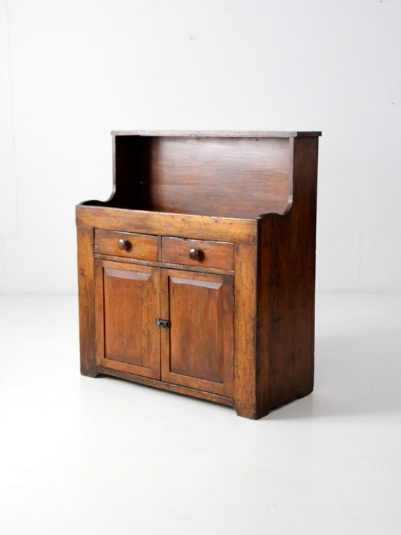 image 0 - Antique Dry Sink Primitive Wooden Cabinet Etsy