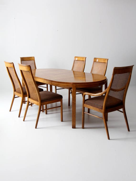 Tremendous Consensus By Drexel Dining Table Set Circa 1977 Bralicious Painted Fabric Chair Ideas Braliciousco