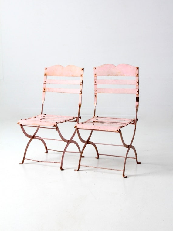 Admirable Antique Childrens Folding Chairs Pink Metal Kids Garden Chairs Caraccident5 Cool Chair Designs And Ideas Caraccident5Info