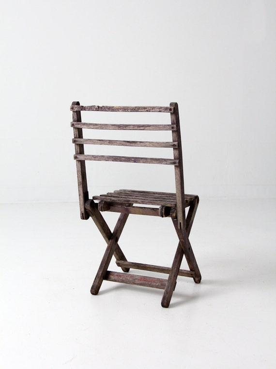 en chaise chaise enfant bois Vintagerustique pliante vn8Om0wN