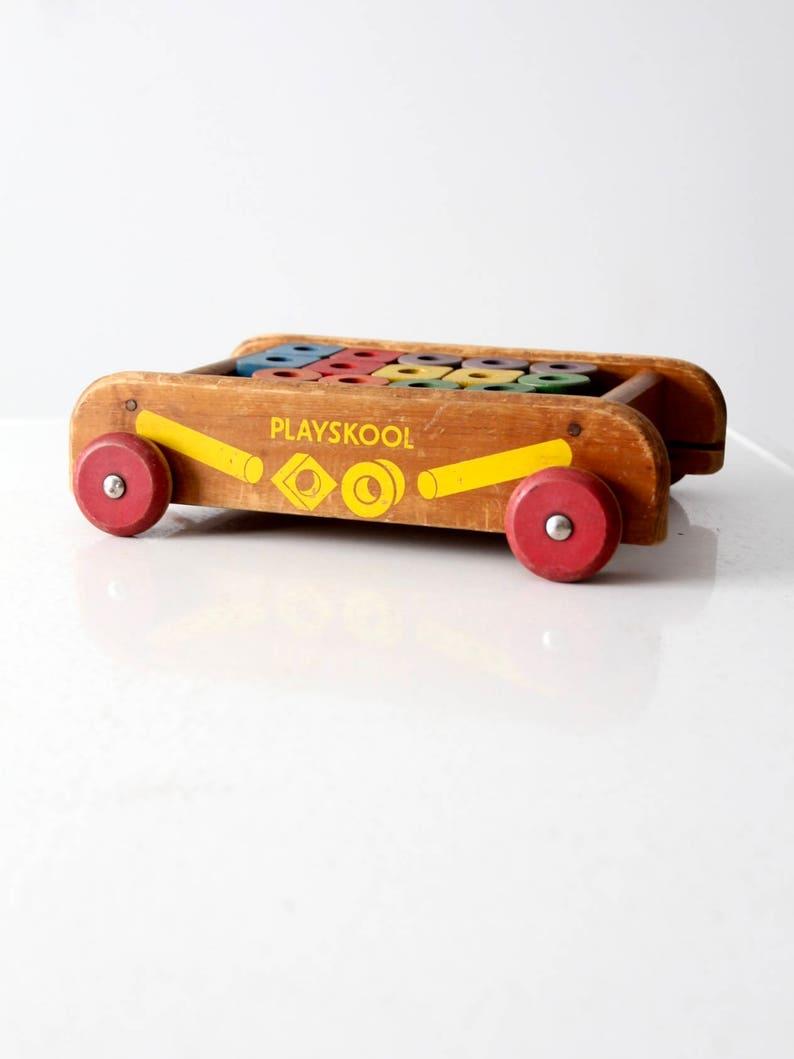 Avec En Blocs Jouet De Playskool Des BoisEtsy Vintage Wagon dxBeWroC