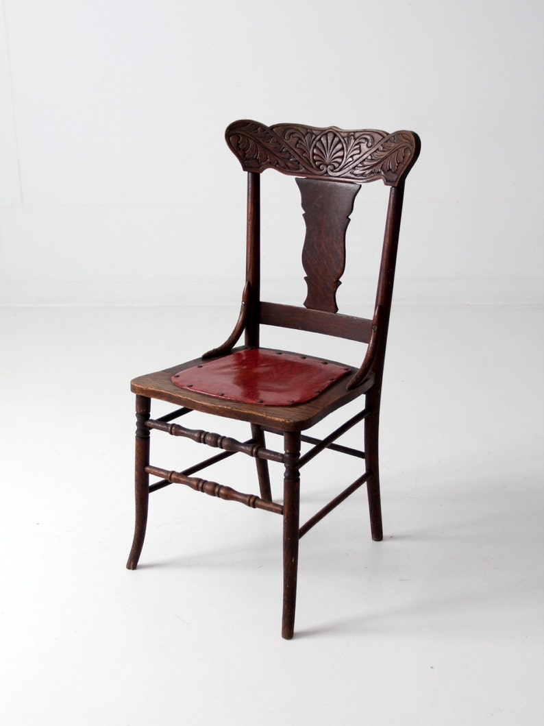 Attrayant Antique Fiddle Back Chair, Press Back Wood Chair