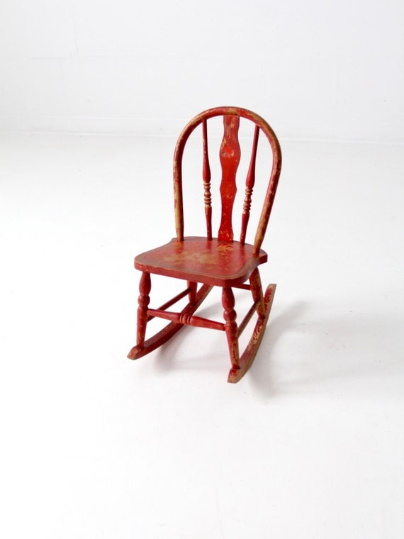 Cool Antique Red Childrens Rocking Chair Ncnpc Chair Design For Home Ncnpcorg
