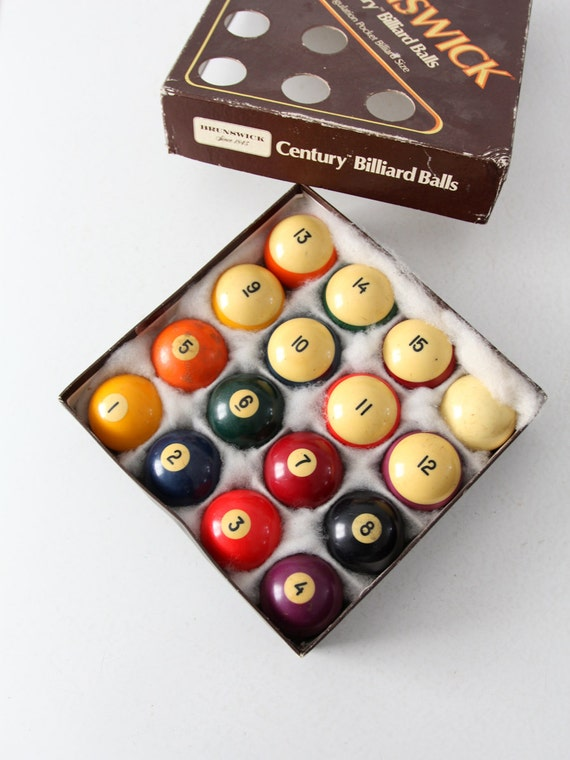 Vintage Billiard Balls Brunswick Century Billiard Balls Pool Etsy - Brunswick century pool table