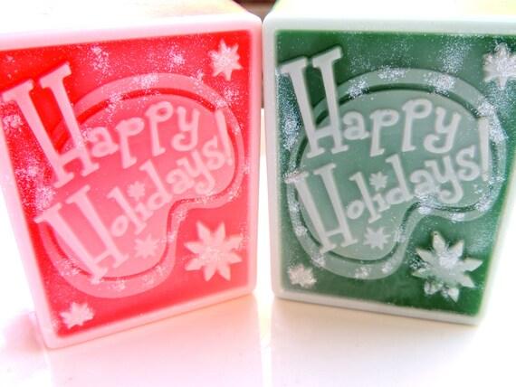 Happy Holidays Soap