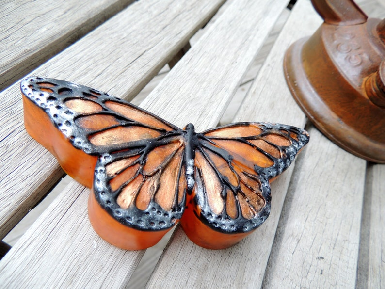 MONARCH BUTTERFLY SOAP Orange and Black Monarch Butterfly image 0