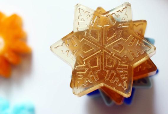 Snowflake Soaps, Set of 4