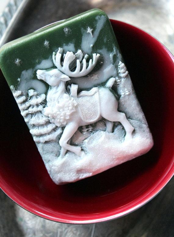 Christmas Reindeer Soap
