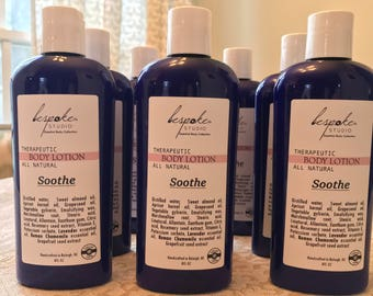 Soothe Body Lotion, All-natural & Therapeutic, Chamomile/Lavender