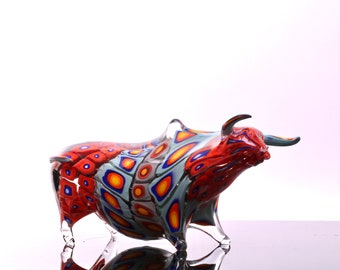 Ancient Bull, Blown glass sculpture