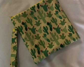 f15e0623382 Cactus Wet Bag//Cactus swimsuit wet bag//Four sizes