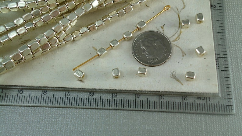 4mm x 1mm 100 Tiny Silver Plated  Spacer Beads