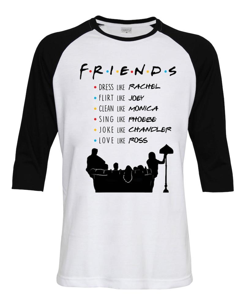 bc4234ef94b Friends TV Show Shirt Name List Best friend Gift Rachel Monica