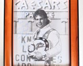 Framed Photograph Of Bobby Knievel In Front Of Caesar 39 s Palace Signed 1989