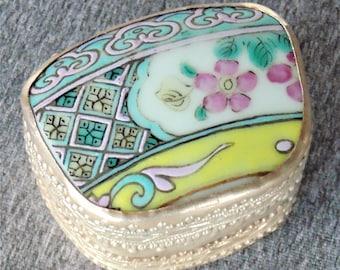 Porcelain Pottery Chard Trinket Box