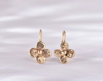 recycled yellow gold doubloon earrings