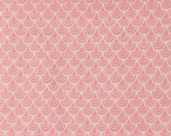 CLEARANCE Riley Blake Fabric Pink Scallop C3372 Merry Little Christmas Collection by Zoe Pern for Riley Blake Designs