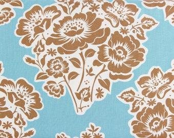 CLEARANCE Michael Miller Fresh Cut Flowers Sandi Henderson Fabric SH5020-Spec-D Blue on Sale