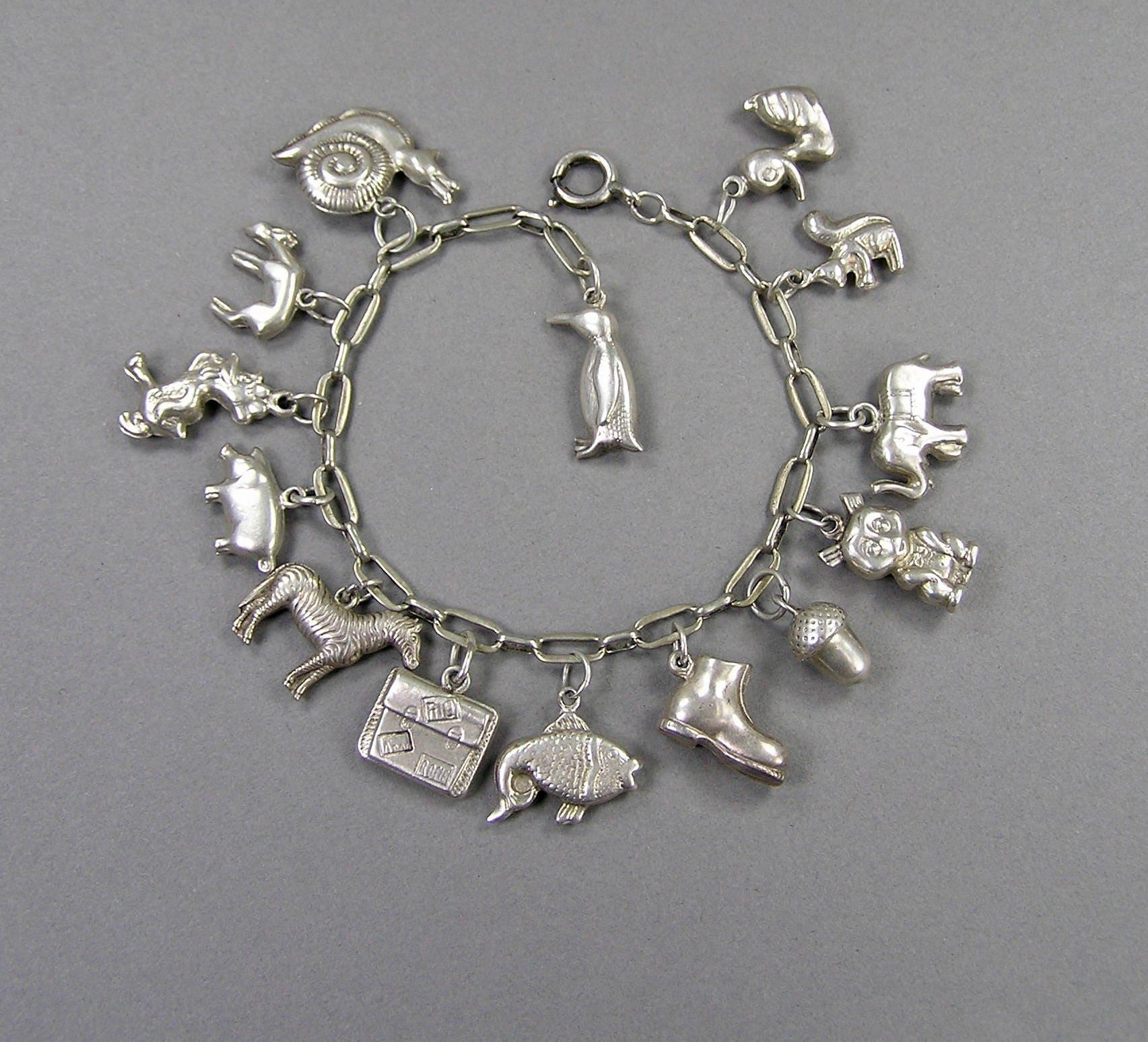 vintage   ; s bracelet, personnages avec max fleischer type de personnages bracelet, de dessins animés, animaux, acorn, valise, chaussure 2a8cd6