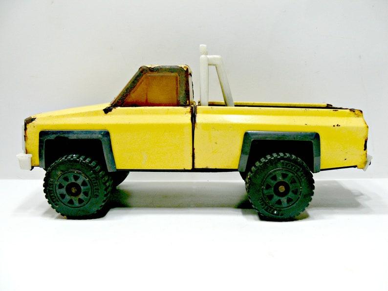 De VoitureDécor Pressé Acier En TonkaVéhicule Métal Jaune Roll Vintage Action Jardin Camion Rouillé Up BarJouet X Pick 4 c4A3RSLq5j