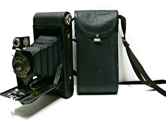 Kodak 2-A Autographic Brownie Camera and Case, Antique Collectible Photography, Vintage 1920s