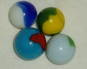 Marbles, Peltier Peerless Patch x 4, Vintage circa 1940 39 s