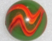 Peltier Marble, Flaming Dragon, National Line Rainbow, 23 32 quot , Vintage, Free USA Shipping
