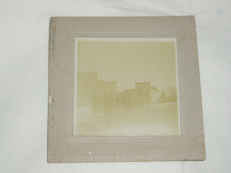 Military? Funeral Procession Rare Topic Free USA Shipping Antique Cabinet Photo