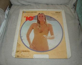 """Video Disc, """"10"""", Bo Derek, Dudly Moore CED"""