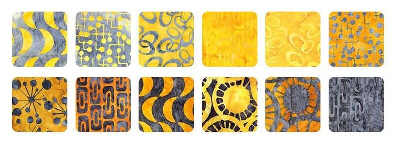 Kaufman Fabric Roll Ups Artisan Batiks Jelly Roll RU-815-40 HELSINKI GOLD Rollup