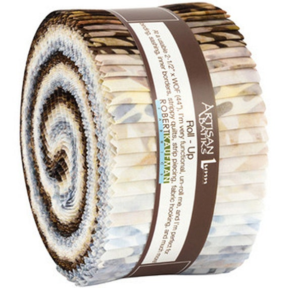 Lunn Studios Artisan Batiks Natural Formations Rain Colorstory Roll Up 40 2.5-inch Strips Robert Kaufman RU-836-40