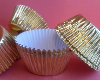 100 Mini Foil Cupcake Liners, Mini Foil Baking Cups, Mini Foil Cups, Mini Foil Candy Cups