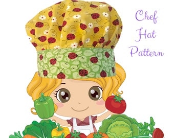 Chef Hat Sewing Pattern | Sewing Patterns | Hat Pattern | Digital Pattern | Instant Download