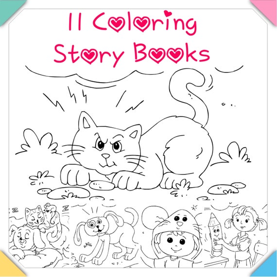 830 Top Coloring Pages Story Book Images & Pictures In HD