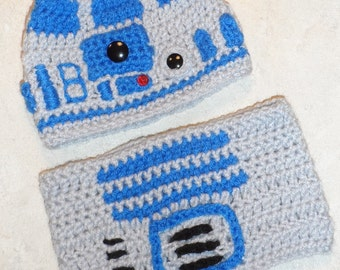ea01a26c684 PATTERN- R2D2 Crochet Hat and Tube Top