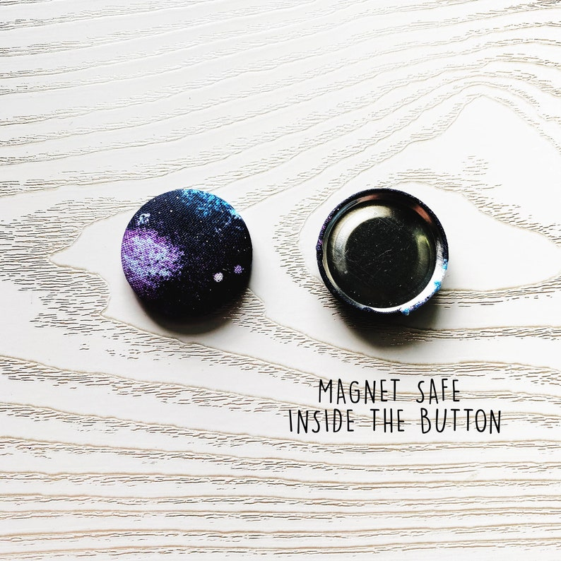 quilting Needle point Galaxy space double sided button Needle Minder Cross stitch embroidery